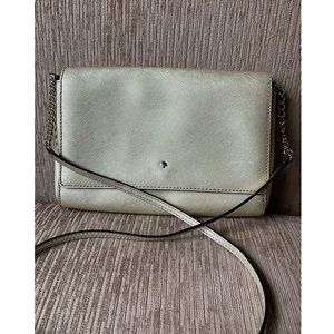 Kate Spade Gold Leather Crossbody Ret $198